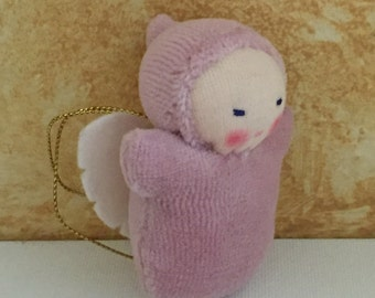Angel Pocket Doll, Waldorf doll, childloss gift, miscarriage of child, baby angel, gift for girl, sister in heaven, Christmas ornament