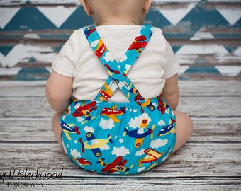 Baby Romper Pattern PDF - Baby Boy or Girl Sunsuit Sewing pattern - Baby Sunsuit Pattern