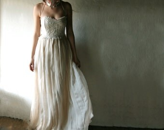 Wedding dress, Beach wedding dress, boho wedding dress, Hippie wedding dress, rustic wedding dress, Simple wedding dress, fairy bridal dress