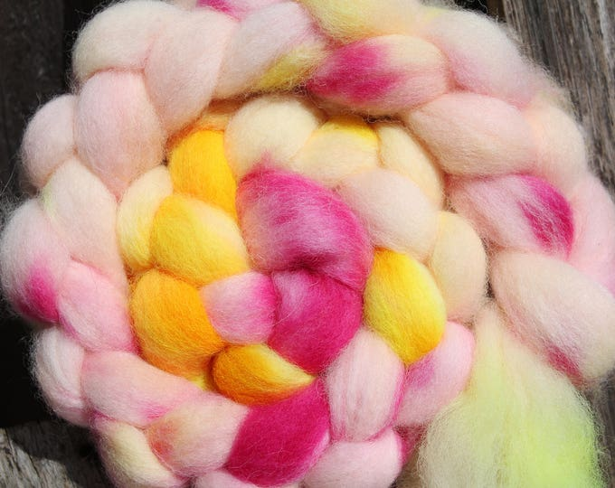 Kettle Dyed Cheviot Wool Top.  Easy to spin. 4oz  Braid. Spin. Felt. Roving. C89