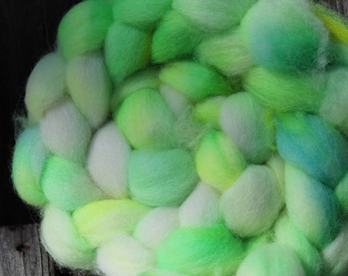 Kettle Dyed Cheviot Wool Top.  Easy to spin. 4oz  Braid. Spin. Felt. Roving. C210