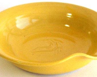 Spoon Rest - Yellow Glaze