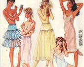 McCall's 3318 SLIPS CAMISOLE PANTIES Tiered Half-Slip Petticoat Bust 40-42  Size Large c. 1987