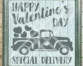 Valentine SVG - Old Truck with Hearts SVG - truck with hearts svg  - Commercial Use SVG - Valentine Special Delivery -  svg, dfx, png, jpg