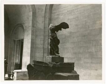 Vintage photo 1954 Winged Victory Paris France Statue