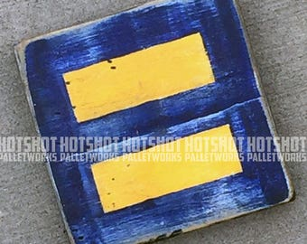 Equality, Equal Rights, Love, Pride, Rainbow, LGBTQ, Pallet Wood Hand Made, hand painted sign