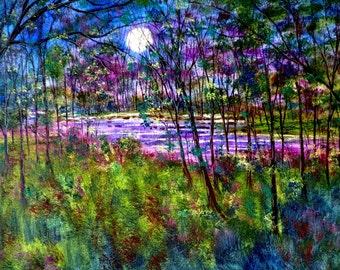 Print - Violet Moon Stream - 8 x 10 Buy 2 get 1 FREE  by  Vadal