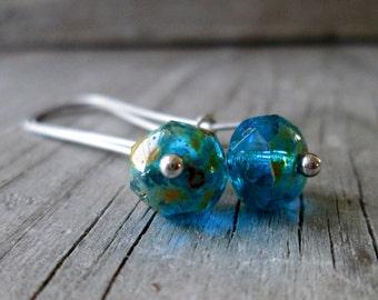 Minimalist Earrings - Hypoallergenic Earrings - Titanium Earrings - Dangle Earrings - Handmade Earrings - Gift Idea - Capri Blue Earrings