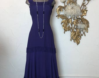 1930s dress purple dress formal gown size small old Hollywood vintage dress 1930s gown 1940s dress