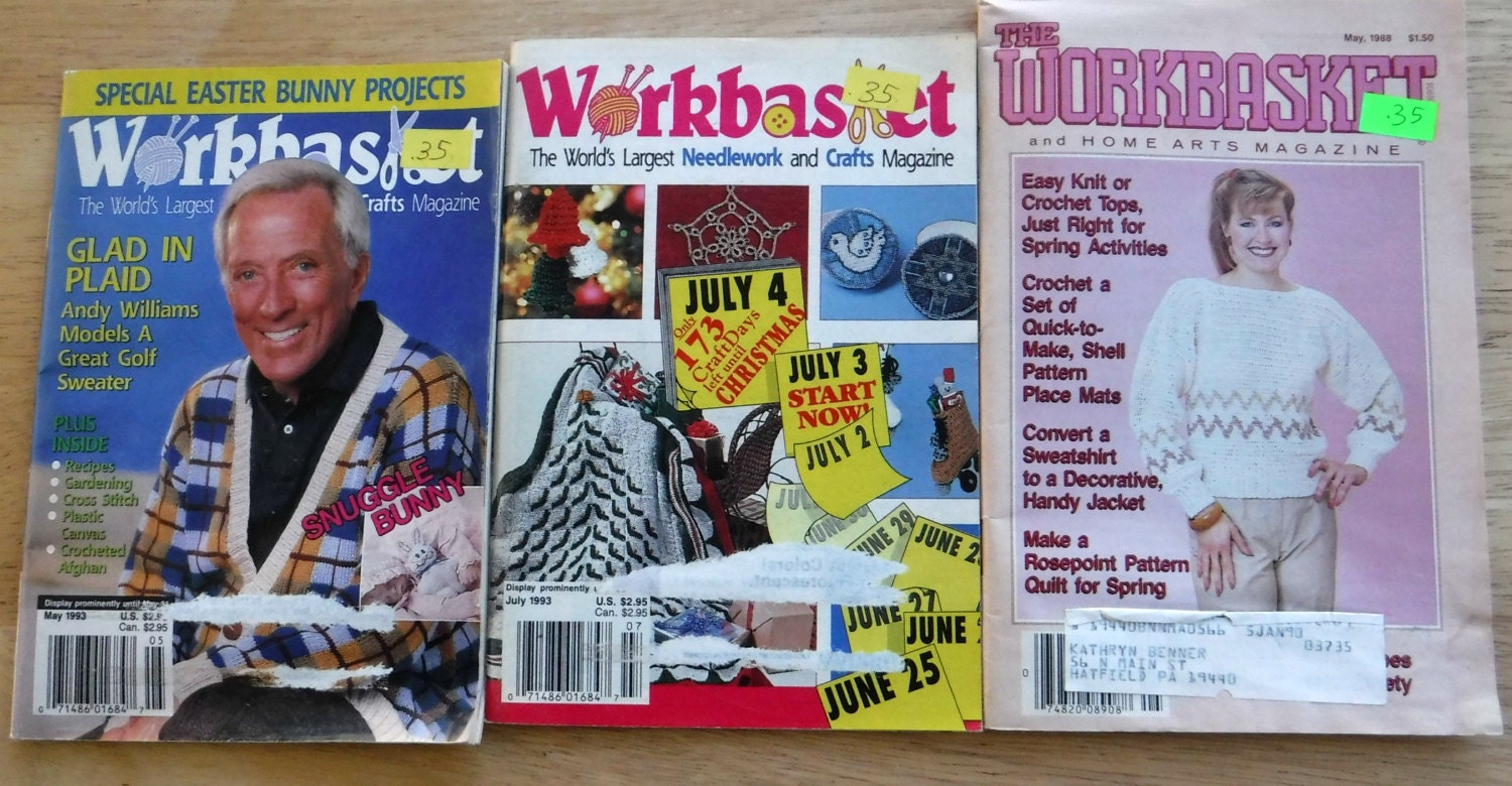 Lot of 11 1980s the workbasket and home arts magazine vintage sold by retrochicboutique bankloansurffo Choice Image