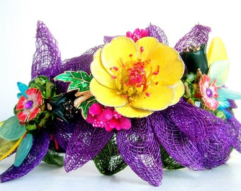 Garden Treasures - OOAK Headband - Ready to ship xx