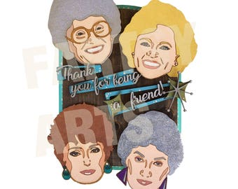 Golden Girls Mixed Media Artwork