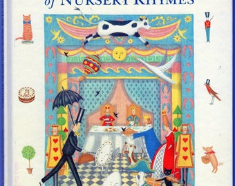 A First Picture Book of Nursery Rhymes Illustrated by Elizabeth Harbour Hardcover Book