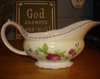 Home Living   - Vintage - Gravy Boat - Bowl - Pitcher -  Wild Flower  Vase - Cabin Decor - Washcloths/Soap - Ivory Ware - Rose Pink Roses