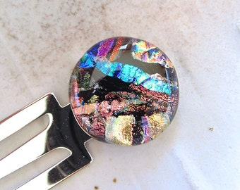 Bookmark, Dichroic Glass, Fused Glass, Gift