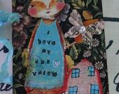 "Altered Art Tag ""i have my own Voice"""