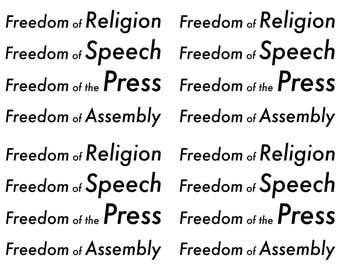 instant download postcard freedom of religion speech press and assembly