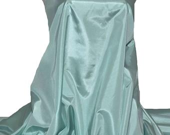 "Bridal Taffeta color LUV AQUA  58"" wide.. 100% polyester..fabric.. wedding...formal..lining..crafts..home decor"