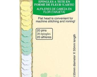 Flower Head Pins Flat Flower Pins by Clover for Quilting : flower head pins quilting - Adamdwight.com