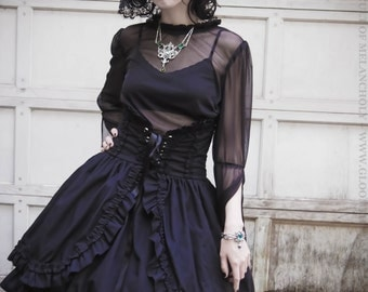 Gloomth Viola Corset Skirt Available in Sizes XS-XXL or Custom
