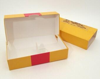 5 Vintage Cardboard Slide Boxes - Vintage Boxes - Small Box Lot - Small Organization