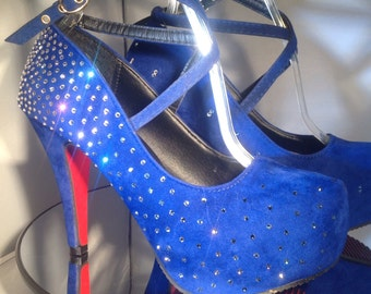 2016 Swarovski Crystal Platform High Heels