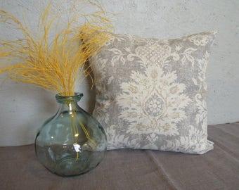 Fleur de Lis Pillow Covers, Grey, Gold, 14x14, 16x16, 18x18, French Country, Light Gray, Toss Cushion
