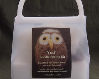Needle felting kit...owl