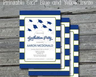 Graduation Announcement | Graduation Party |  Graduation Invite | Printable Invitation | Digital Download | Red and Gray | DIY