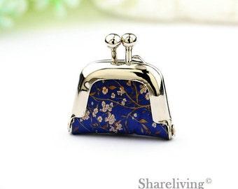 1pcs Plum flower Purse Charm, Handmade  Antique Bronze / Silver Photo Purse Pendant / Necklace - PL004Y