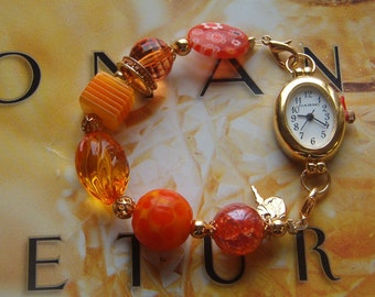 Interchangeable Bracelet Watch Band with Watch Face, Beaded Watch Band, Interchangeable Watch Band, Bracelet Band for Watch or Medical Alert