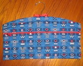 Happi Coats Design Closet Hanger Organizer Quilted Asian Japanese Fabric Blue