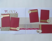 Golden Love Premade or DIY Kit,12x12 Scrapbook Layout, Scrapbook Page Kit, Project Life, Filofax
