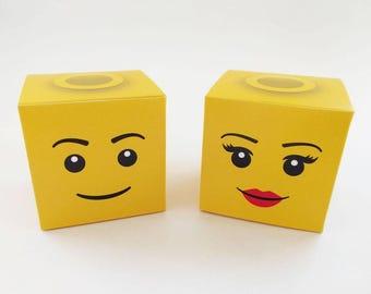 Lego Head Classic Treat Box - DIY Printable