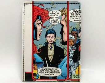 Sewn Duct Tape Comic Book Wallet - X-men - Jean Grey, Storm,  Psylocke, more