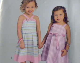 Sewing Pattern Simplicity 1399 Toddlers' Dress Size 6 months to 6 Uncut Complete