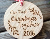 RESERVED Our First Christmas Together Ornament