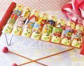 From the Dime Store...Darling Vintage Toy Xylophone