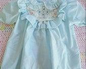 Vintage Pastel Blue Polly Flinders dress size 6-12 months