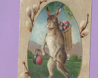 Vintage Easter rabbit  anthropomorphic