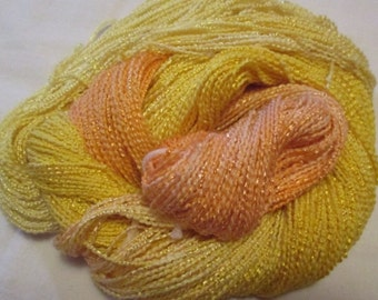Hand painted Cotton Boucle Yarn - 315 yds.  BANANA BOAT