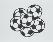 Soccer Ball Die Cuts-Soccer Ball Paper Die Cuts-Paper Soccer Balls-Soccer Ball Confetti-Soccer Ball Invitations-Scrapbook Supplies