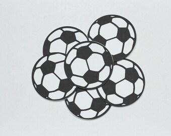 Soccer Ball Die Cuts-Soccer Ball Die Cut-Soccer Ball Confetti-Soccer Balls-Papper Soccer Balls-Soccer Ball Invitations-Scrapbook Supplies