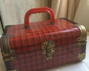 Vintage Suitcase, Made for Doll Clothes, Great Travel Case