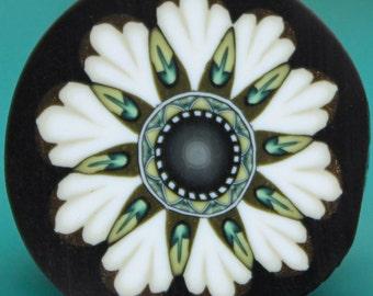 MEDIUM White Polymer Clay Flower Cane -'Oma's Garden' series (49dd)