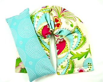 Therapy Neck Wrap Eye Pillow Set Hot Cold Therapy Heating Pad Microwave Heat Pack Cold Pack Gift Guide