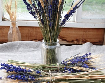 10 Larkspur and Lavender Table Arrangements or Center Pieces for Weddings, Summer Parties and Celebations