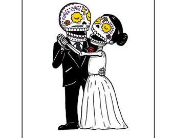 El Baile Wedding Archival Art Print 8 x 10