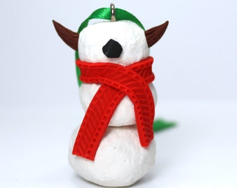 Timid SnowMonster Ornament (Red)