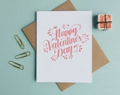 Letterpress Greeting Card - Love Card - Warm Thoughts - Happy Valentines Day - WMH-418
